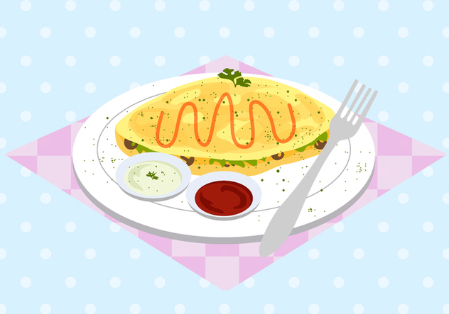 Free Omelet Vector - Free vector #407587