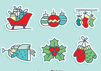 Hand Drawn Christmas Decoration Vector - vector gratuit #407597