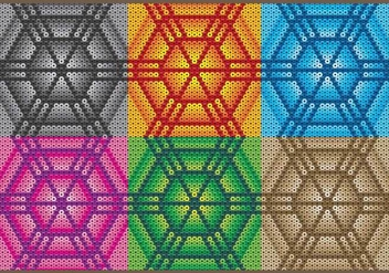 Huichol Hexagonal Patterns - бесплатный vector #407617
