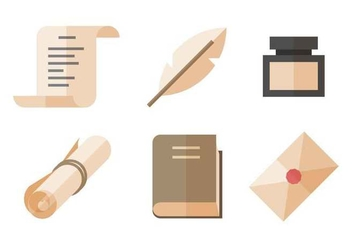 Free Writing Tools Vector - бесплатный vector #407677
