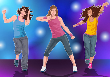 Zumba Fitness Dance - Free vector #407697