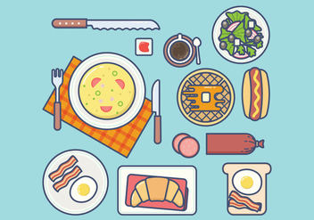 Free Breakfast Vector - бесплатный vector #407807