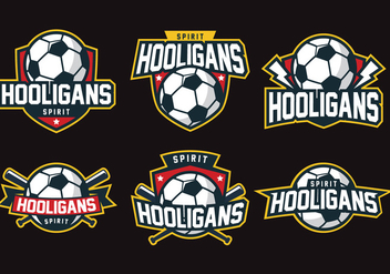 Hooligans Badge - vector gratuit #407817