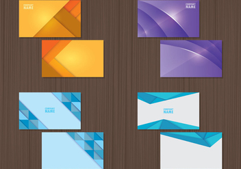 Set Of Namecard Templates - Kostenloses vector #407857