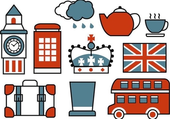 Free Retro British Icons Vector - vector gratuit #407887