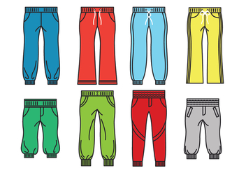 Sweatpants Icon Vectors - Free vector #407907