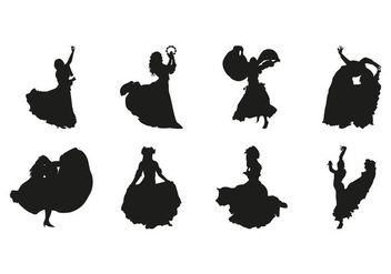 Free Gipsy Dance Silhouettes Vector - Kostenloses vector #408097