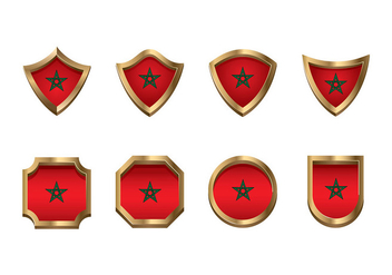 Maroc Flag Icon Set Vector - Free vector #408117