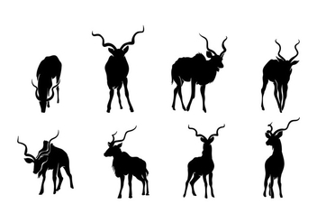 Kudu Silhouette Vector - Free vector #408127