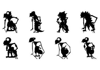 Free Wayang Silhouette Vector - Free vector #408187