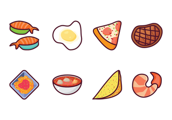 Free Food Vector Pack - vector #408197 gratis