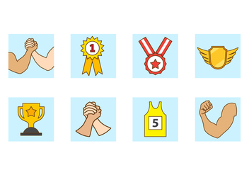 Free Arm Wrestling Vector Icon - Free vector #408207