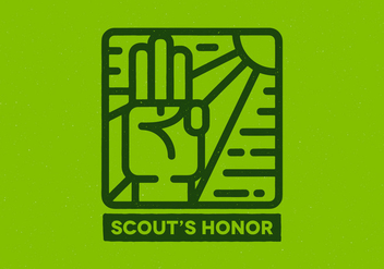 Scout's Honor Badge - бесплатный vector #408317