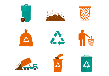 Free Landfill Vector Icons - vector gratuit #408347