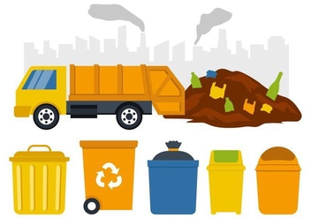 Free Garbage Collection Vector Illustration - vector gratuit #408387