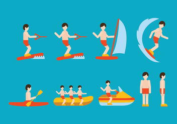 Water Sports Vector - vector gratuit #408417