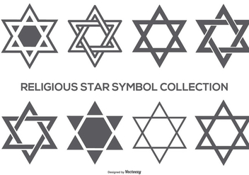 Religious Star Symbol Collection - бесплатный vector #408427