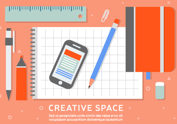 Free Business Workspace Vector Background - vector gratuit #408507