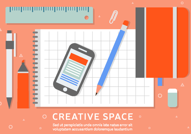 Free Business Workspace Vector Background - Free vector #408507