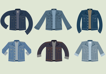 Blue Jean Jacket Free Vector - Free vector #408537