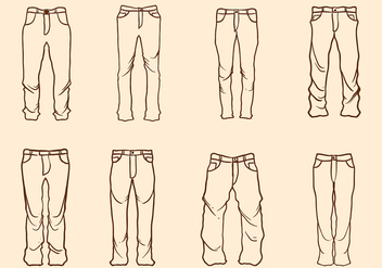 Free Hand Drawn Jeans Vector - бесплатный vector #408567