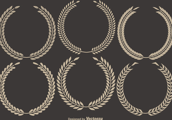 Vector Laurel Wreaths - Free vector #408737