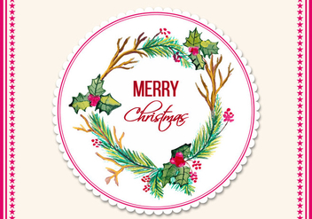 Free Vector Watercolor Christmas Frame - Kostenloses vector #408767