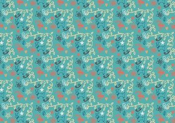 Christmas Pattern Free Vector - бесплатный vector #408787