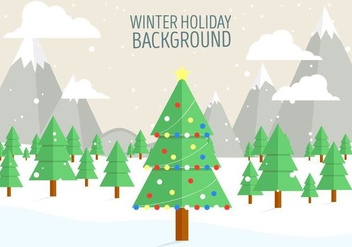 Free Vector Christmas Landscape - Free vector #408837