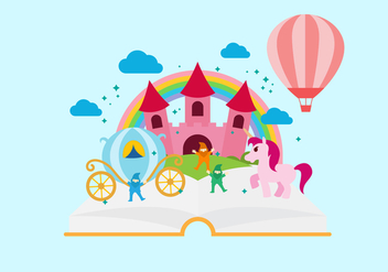 Free Storytelling Book Vector Illustration - Kostenloses vector #408917