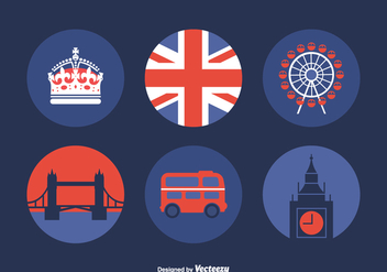 Free Vector London Icons - vector gratuit #408987