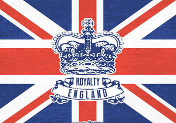 Free Grunge British Crown Vector - Kostenloses vector #408997