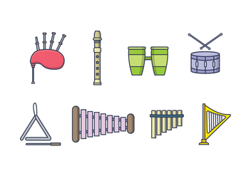 Free Music Instrument Vector - Free vector #409017