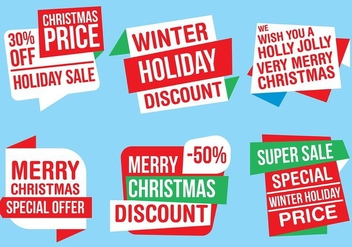 Free Vector Christmas Labels - Free vector #409107