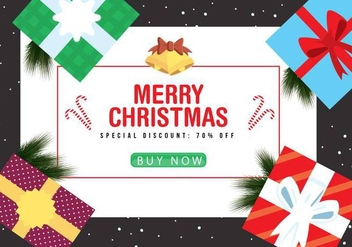 Free Christmas Vector Background - vector #409117 gratis