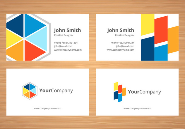 Free Business Card Template - vector gratuit #409147
