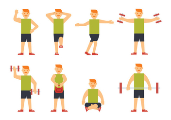 Sportsman training vectors - Free vector #409177