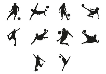 Free Beach Soccer Silhouettes Vector - Free vector #409227