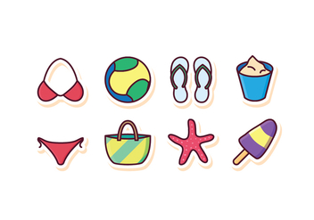 Free Beach Icon Set - Free vector #409237