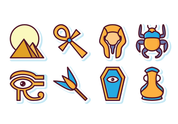 Free Egypt Icon Set - vector gratuit #409277