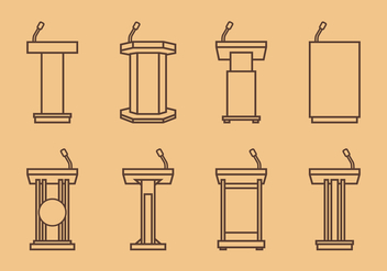 Lectern Outline Free Vector - vector gratuit #409287