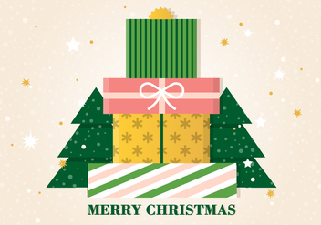 Free Vector Christmas Gift Boxes - Free vector #409477