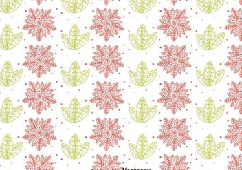 Flower And Leaf Gipsy Style Seamless Pattern - Free vector #409567