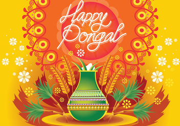 Vector Illustration of Happy Pongal Celebration Background - Kostenloses vector #409647