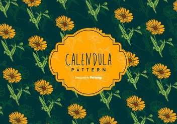 Calendula Background - vector #409767 gratis