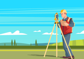 Land Surveyor - vector gratuit #409857