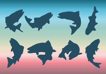 Free Rainbow Trout Icons Vector - Free vector #409877