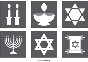 Jewish Icon Collection - vector #409907 gratis
