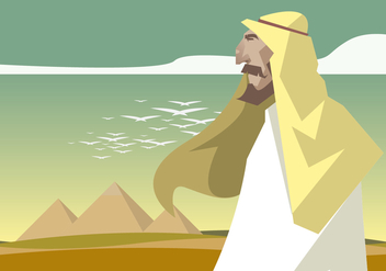 Piramide and Egypt Men Vector - бесплатный vector #409967