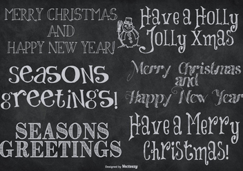 Cute Hand Drawn Style Christmas Lettering - vector #409977 gratis
